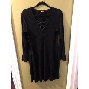 Black slimming dress
